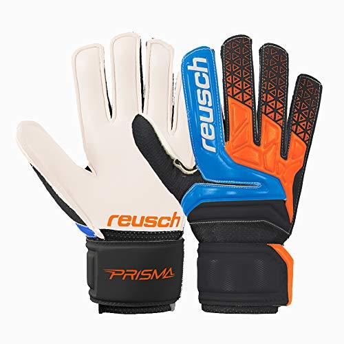Reusch Prisma SD Easy Fit Junior Torwarthandschuhe Hartplatz Kinder schwarz-orange Electric Blue/Shocking orange, 7.5