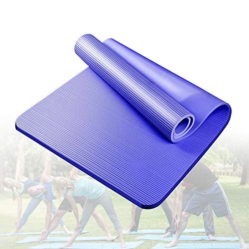 HIMABeauty Esterilla De Yoga Esterilla De Ejercicio Antideslizante Gruesa, Ecológica Antidesgarro, Premium para Pilates, Fitness, Mujeres y Hombres 72.83 * 31.49,Azul