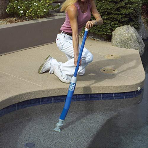GAME 4855 Manual Handheld Swimming Pool and Spa Vacuum Cleaner, For Minor Debris, Simple Pump Action
