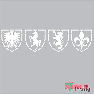 Museum Grade Ultra Thick Clear Color Material Heraldic Crest Coat of Arms Family Stencil-S (14