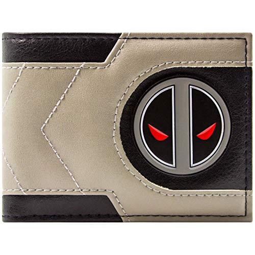 Deadpool bedrohlich Stare Grau Portemonnaie Geldbörse
