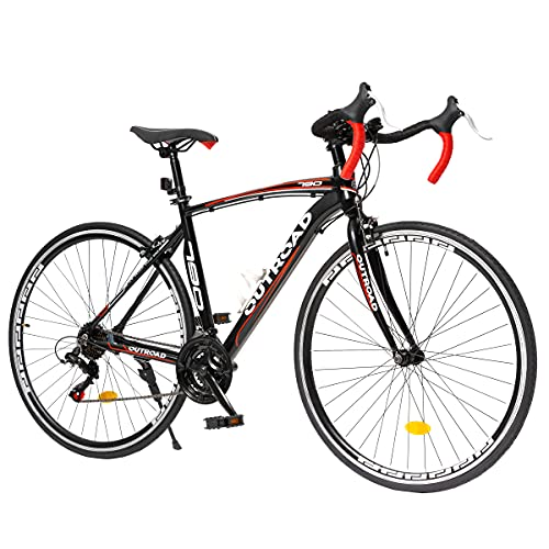 Max4out Aluminum Alloy Frame Road Bike for Men and Women