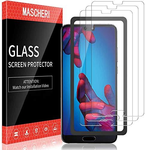 MASCHERI 3 Pezzi Pellicola Protettiva per Huawei P20 Vetro Temperato 9H Durezza Senza Bolle Protezione Schermo per Huawei P20 Trasparente