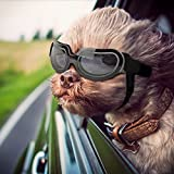 NAMSAN Dog Sunglasses Doggie Goggles for Small Dogs Puppy Goggles for Eye Protection (Bright Black)