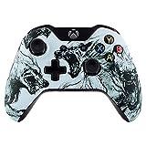 eXtremeRate Case für Xbox One Controller,Gehäuse Hülle Ersatzteile Zubehör Faceplate für Xbox One Standard Controller mit Oder Ohne 3,5mm Anschluss(Wolf)