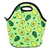 Neoprene Lunch Bag for Kids, Insulated Lunch Box Tote for Women Men Adult Teens Boys Teenage Girls Toddlers (Avocado)