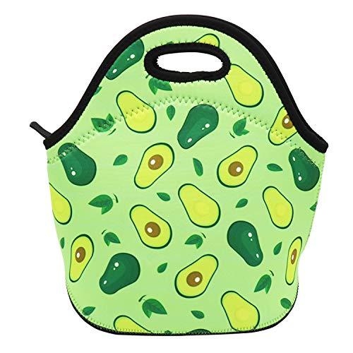 Neoprene Lunch Bag Insulated Lunch Box Tote for Women Men Adult Kids Teens Boys Teenage Girls (Avocado)