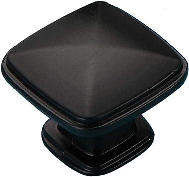 10 Pack MOOD.SC Stepped Square Cabinet Knobs for Kitchen Cupboard Door, Bedroom Dresser Drawer, Bathroom Furniture Hardware -