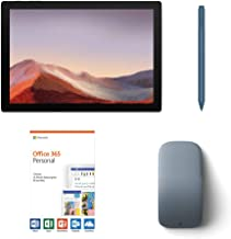 """$879 » Microsoft Surface Pro 7 2-in-1 12.3"""" Touchscreen Tablet 2736x1824, 10th Gen i5, 8GB RAM, 128GB SSD, Quad-Core, USB-C, Backlit, Webcam, Win 10 w/Office 365 Personal, Arc Mouse, Surface Pen - Ice Blue"""