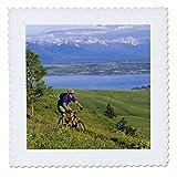 3dRose QS 91623_ 1Radfahren, Mountain Biker, Flathead