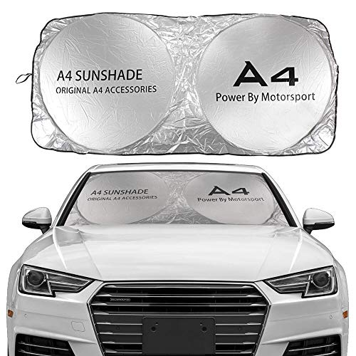 JHSHOP Parasol para Coche Windshield Sun Shade Cubierta Compatible con Audi A3...