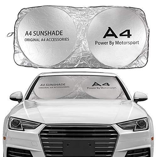JHSHOP Parasol para Coche Windshield Sun Shade Cubierta Compatible con Audi A3 8P 8V A4 B8 B6 A6 C6 A5 S1 S2 S3 S4 S4 S5 S7 S8 S8 SQ5 SQ7 Accesorios Anti UV Protector Sombrilla (Color : For A4)
