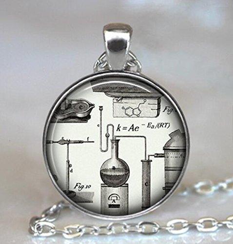 Collar de química Steampunk, colgante de química, nerd de la ciencia, geek ciencia, regalo para profesores de química