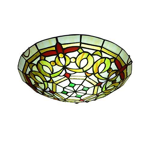 RUIXINBC Tiffany Lampara De Techo Iluminacion, Nudo Vinculado Decoración De Arte Vidrieras Redondas Vintage Lamparas Araña, Sala De Estar Baño Dormitorio Luz Colgante