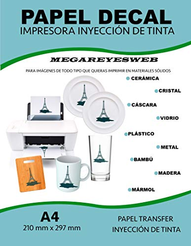 Papel Decal Modelismo Tamaño A4 Transparente Ceramica Tazas Uñas Water Transfer Paper Decal Paper Calcomania Deslisable al Agua Para...