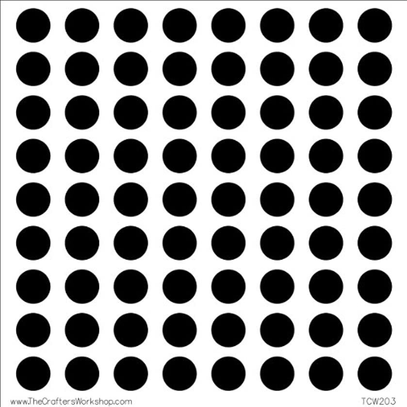 CRAFTERS WORKSHOP Template, 6 by 6-Inch, Circle Grid