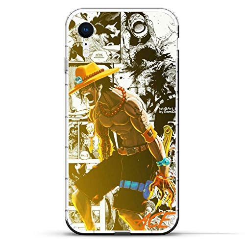 Gogoyang Clear Coque Ultra-Thin Transparent Soft TPU Case Cover for Apple iPhone XR-My Hero-Academia One-Piece 5