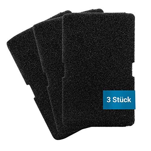 Set di 3 filtri in schiuma, come Beko 2964840100 TKF7451, 240 x 155 mm, per scambiatore di calore, asciugatrici, asciugatrici, asciugatrici