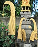 Asiastyle Bali-Fahne, Gold, 200cm inkl. Stock