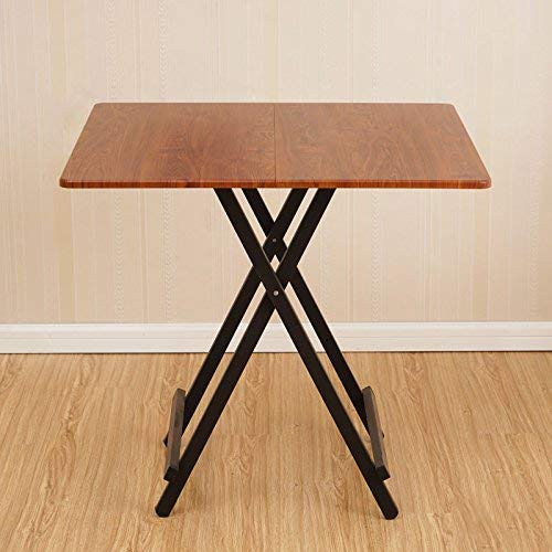ZXL Folding Table Portable Square Dining Table Stall Table Home Dining Table...