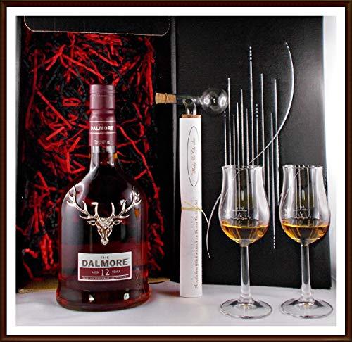 Geschenk No.2 Dalmore 12 Jahre Single Malt Whisky + Portionierer + 2 Single Malt Gläser, kostenloser Versand