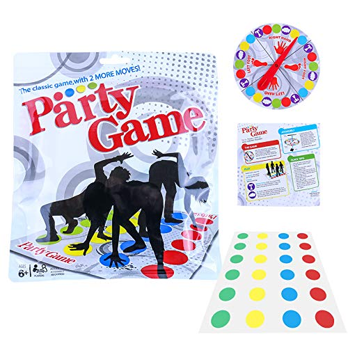 Winning Solutions Party Gmae,1998 Family Board Party Game,Floor Game,Foot Game: Bigger Mat, More Colored Spots,Kids Party Game Age 6+