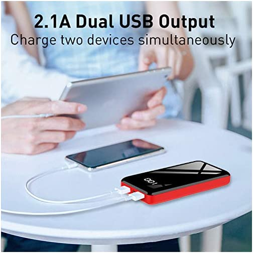 Portable Charger Power Bank 30000mAh Bextoo High-Speed 2 USB Ports with Full LCD Digital Display Compatible with Smart Phone, Android Phone, Tablet and More 5