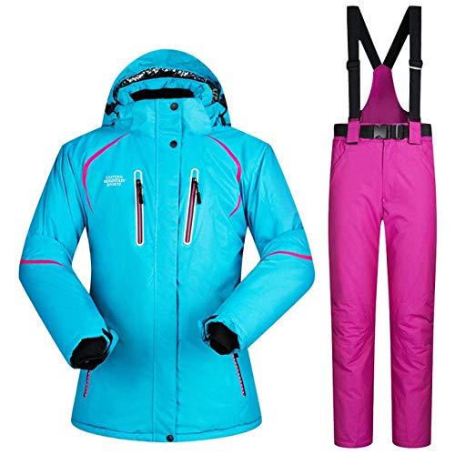Dames Skiën Jassen en Broeken Suit Vrouwen Sneeuw Snowboarden Kleding Waterdicht Winddicht Winter Ski Pak Suits Set Vrouwelijke L 1