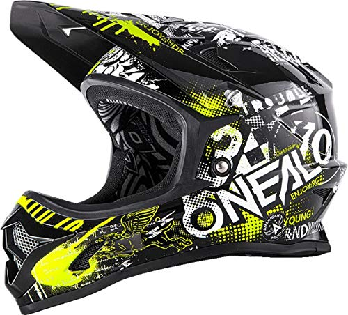 O'NEAL Oneal Backflip RL2 Youth EVO Attack Fahrradhelm, Schwarz, M
