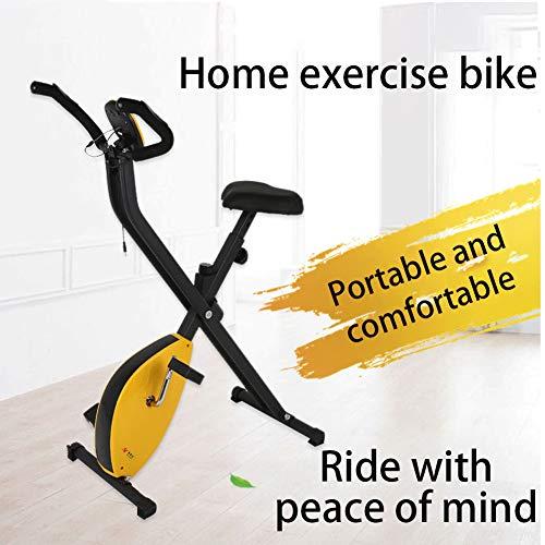 Keumer Bicicleta Estática Plegable para Interiores, Hogar, Aeróbico Comercial, Equipo De Ejercicios, Bicicleta De Ejercicio, Pedal con Pantalla