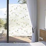 Pellicola per Vetri Colorati Undurchsichtige Sonnencreme Fensteraufkleber Milchglasfolie Frische Blatt Bad Beschattung Fensteraufkleber-70 * 200Cm