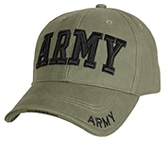 Raised 3-D Army Embroidered Insignia on the Front Panel and Brims Constructed of a Durable Yet Comfortoable 100% Brushed Cotton Twill The Cap Is Fully Adjustable With A Hook & Loop Closure The Hat Features a Padded Sweatband For Added Comfort Sandwic...
