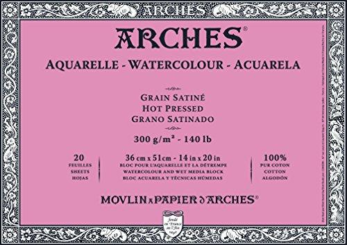 Arches Watercolor Block, Hot Press 14'X20', 14' x 20'