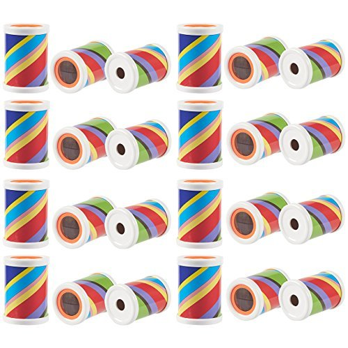Blue Panda 24 Pack Mini Kaleidoscope Prism Toys for Kids Birthday Party Goodie Bags Favors, 2.5 x 1.75 Inches