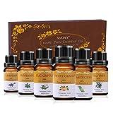 VSADEY Aceites Esenciales Aromaterapia Aceites Esenciales para Humidificador Essential Oils Set 6 x 10ml 100% Puro y Naturales (Naranja Dulce, Lavanda, Arból de Té, Menta, Limoncillo, Eucalipto)
