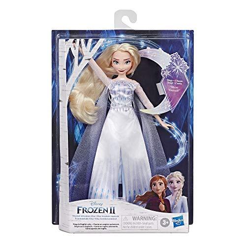 Hasbro Disney Frozen 2 - Elsa, Bambola cantante (Musical Adventure - Canta la Canzone Mostrati dal Film Disney Frozen 2)