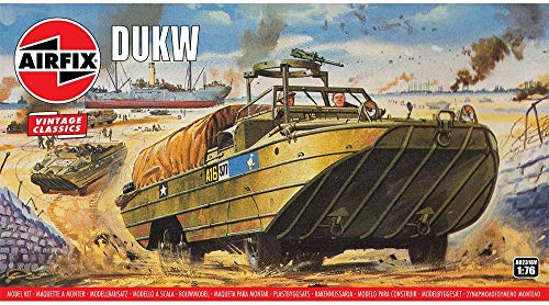 Airfix Vintage Classics DUKW 1:76 WWII Military Amphibious Ground Vehicle Plastic Model Kit A02316V