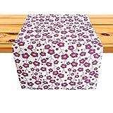 Cushystore Tischläufer mit rotem Blumenmuster, chinesischer Stil, orientalisch, 100 % Baumwolle, Burgunderrot, 33 x 122 cm