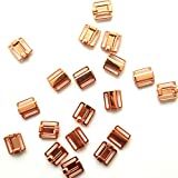 20Pcs/lot 12mm Craft Rose Gold Metal Rectangle Tape Closure Hook & Clasp Waist Extenders Sewing On Clothes Bra Clip Hooks