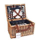 Display4top Deluxe 4 Personen Traditional Wicker Picknickkorb