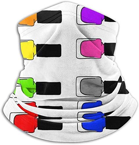 Axige888 Regenboog Nagel Poolse Fleece Nek Warmer - Omkeerbare Nek Gaiter Tube, Veelzijdigheid Oor Warmer Hoofdband & Masker Voor Mannen En Vrouwen