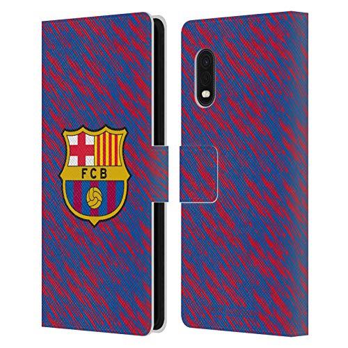 Head Case Designs Oficial FC Barcelona Fallo técnico 2019/20 Crest Patterns Carcasa de Cuero Tipo Libro Compatible con Samsung Galaxy Xcover Pro