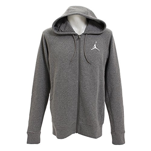 Nike Herren Jordan Flight Hoodie, Carbon Heather/White, L
