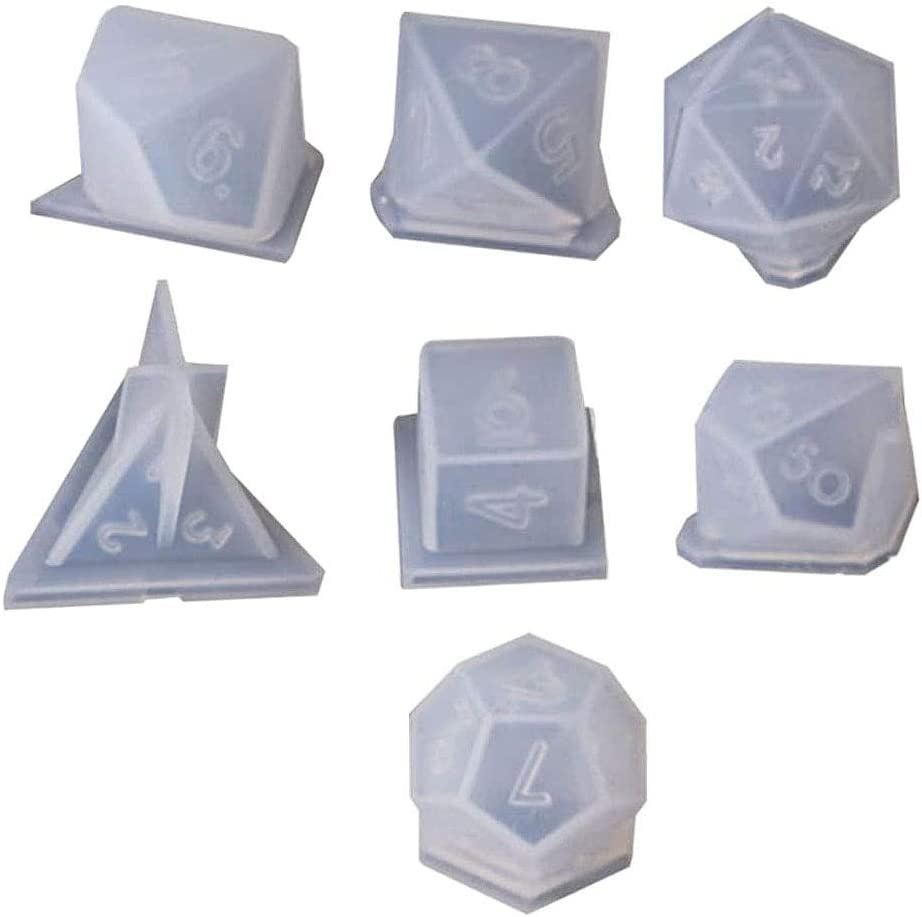 Szecl 100% quality warranty! 70% OFF Outlet 7 Shapes Dice Molds for Resin Standard Game F Casting