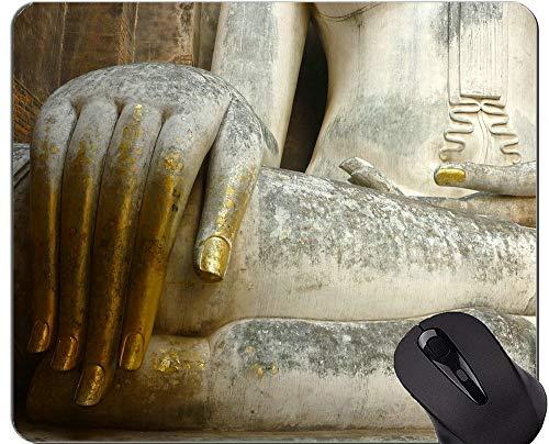 Yanteng Tappetini per Mouse Personalizzati, Spiritoso Tappetino Mouse per Statua di Buddha con Bordi cuciti