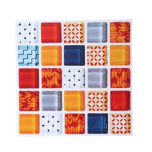 VIFERR Etiqueta de la Pared 6 PCS Multi Color 3D Autoadhesivo Baño Cocina Decoración Pared Escalera Azulejo Etiqueta