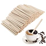 "AHUA Wood Coffee Beverage Stirrers, Coffee Stir Sticks,100% Eco Friendly Coffee Stirrers for Hot Cold Beverages as Coffee, Tea Drink Alternative to Plastic Stirrer, 5.5""Length (500 Count)"