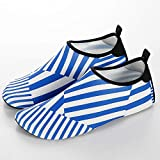 Quick-Dry Shoes Ladies Men's Soft Bottom Diving Outdoor River Wading Skin-Tight Swimming Treadmill Shoes (Color : Blue, Size : 38-39)