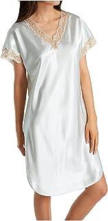 Shadowline Women's Plus Size Charming Satin Chameuse Sleepshirt