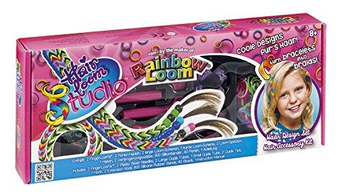 Rainbow Loom 22376 - Original Hairloom Studio inklusive 600 Bänder und 40 Perlen, Haarschmuck